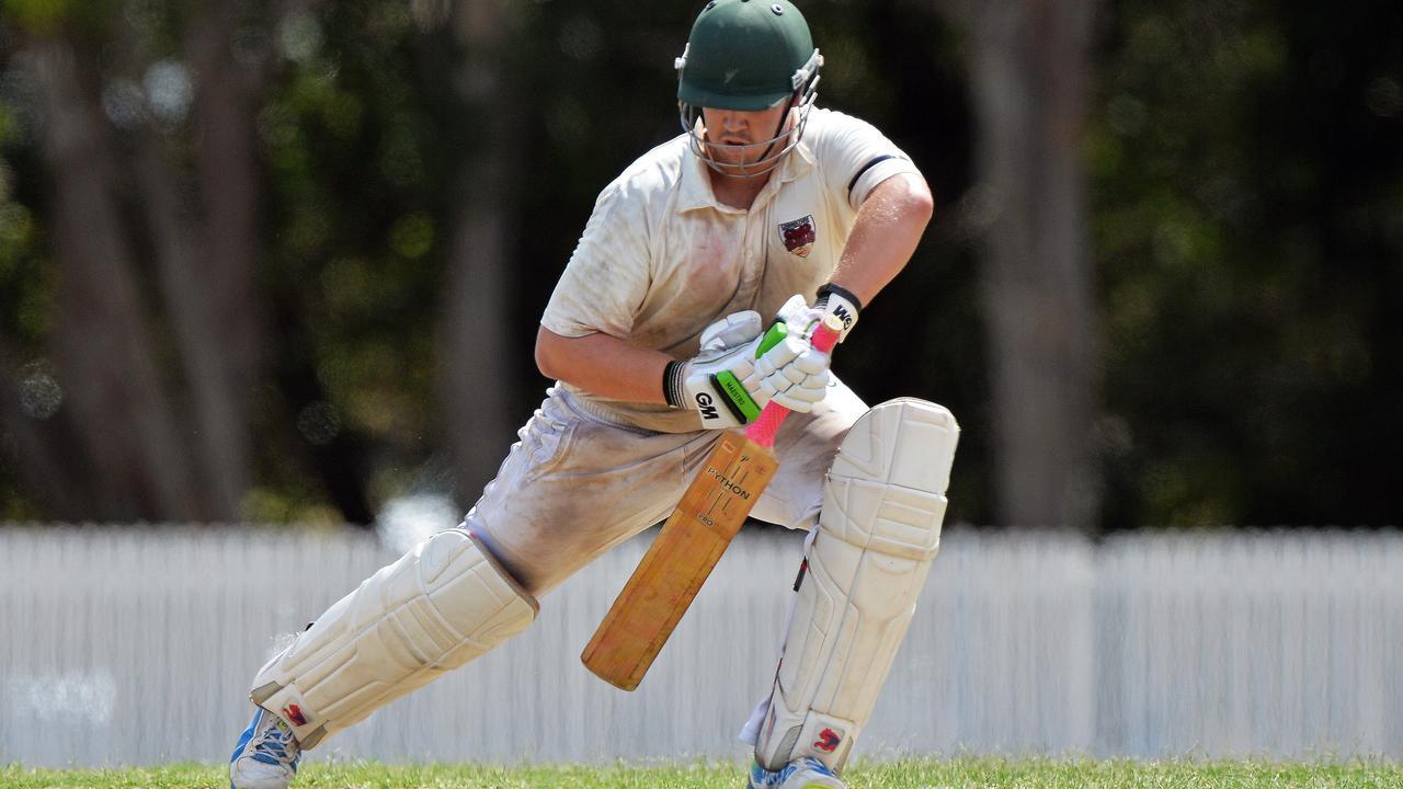 Caboolture's batsman Matt Schubert.