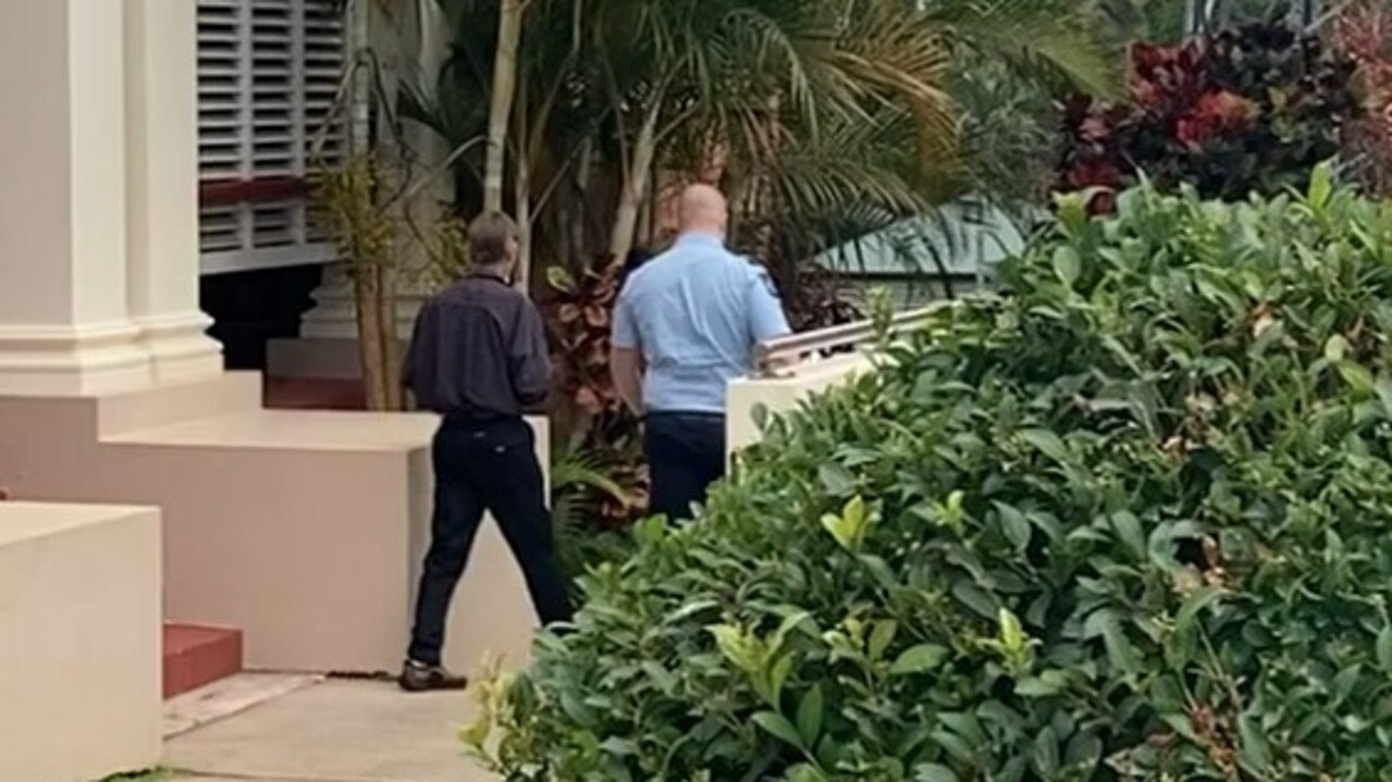 Anthony Green led away from Gympie District Court by police
