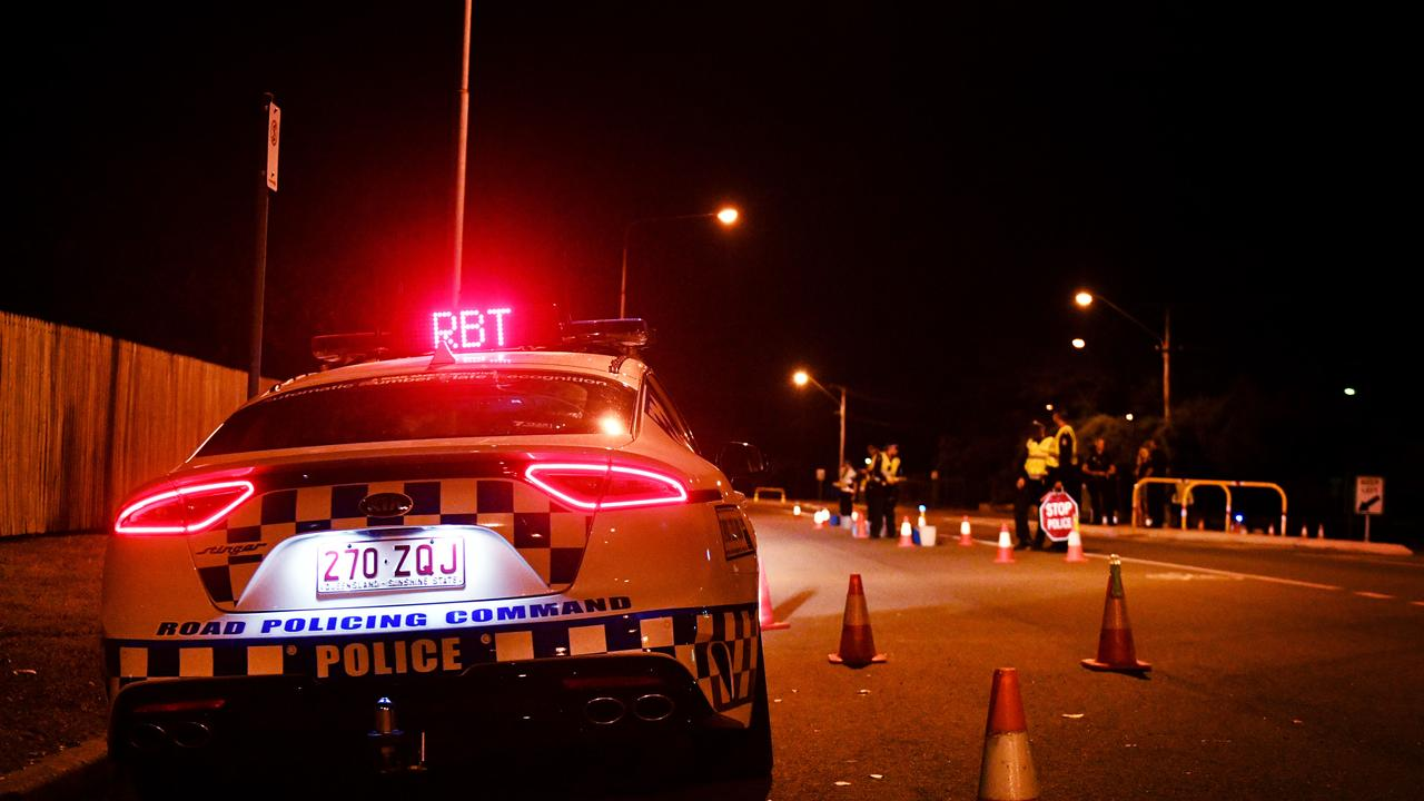 A police roadside breath testing operation in action. FILE PHOTO.