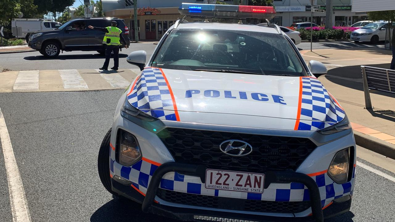 Police have attended a four-car crash in West Mackay. Picture: Rae Wilson