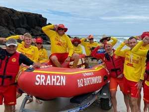 Rescue boat, artwork to honour 'Raz' Burtonwood