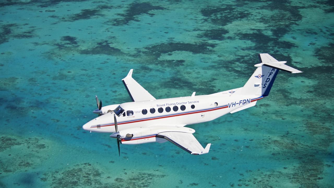 The Royal Flying Doctor Service's current King Air B350 aircraft. Picture: Noel Castley-Wright