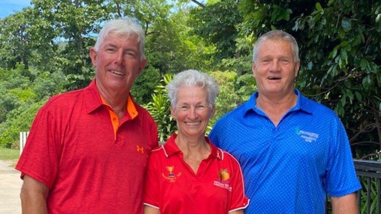 Peter Fox, Tiina Randmae and Dean Kercher from Whitsunday Golf Club.