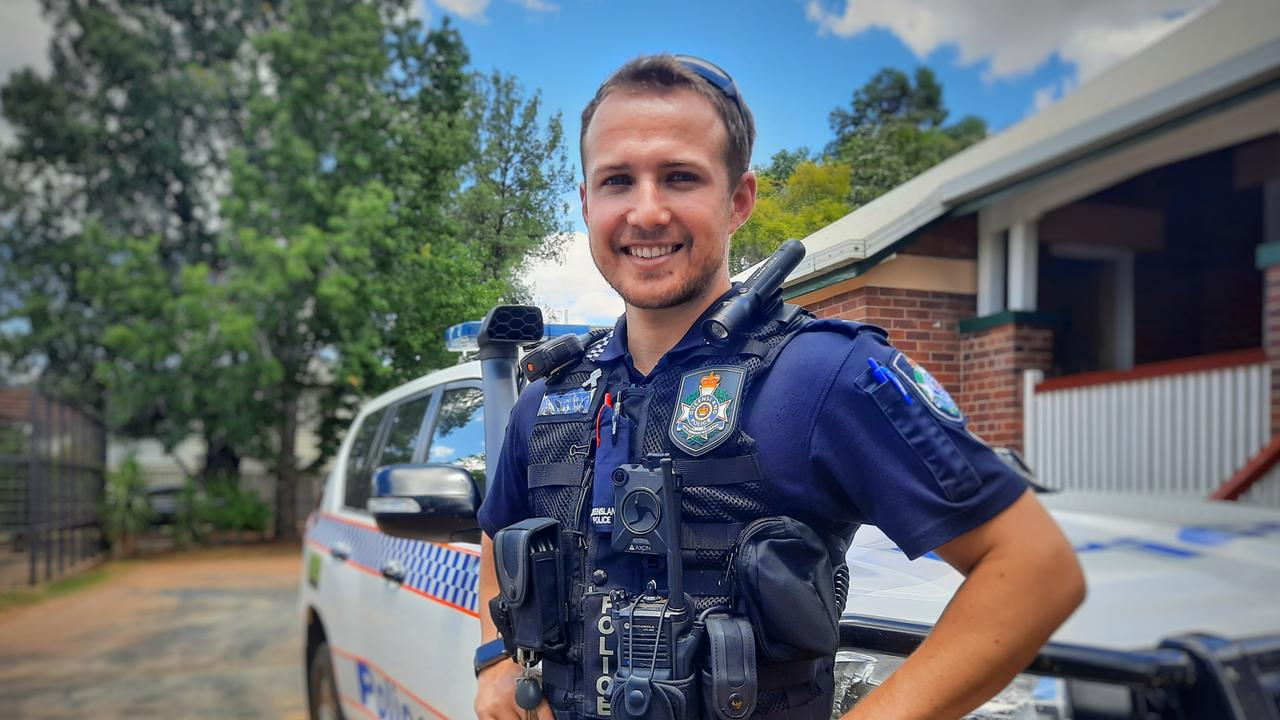 Packing up his life in South Brisbane to fight crime in rural Queensland, Constable Randell Kirk is the latest addition to the Chinchilla Police Station. Pic: Peta McEachern