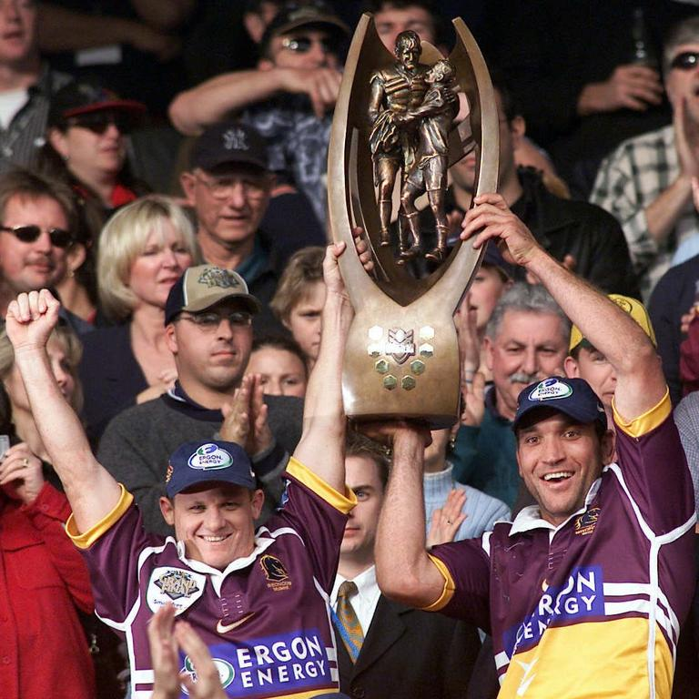 All of the Broncos' grand final wins will be streamed on Kayo, including their 2000 Premiership.