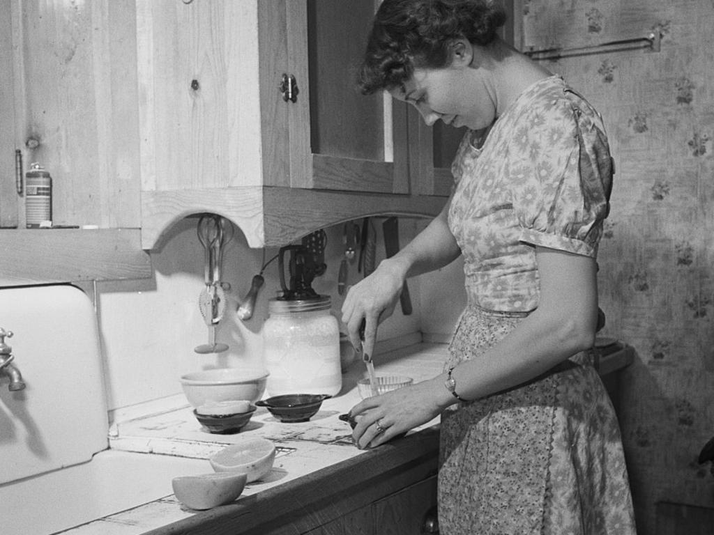 A woman in the kitchen, 1930s. Picture: United States Farm Security Administration – Office of War Information Photograph Collection