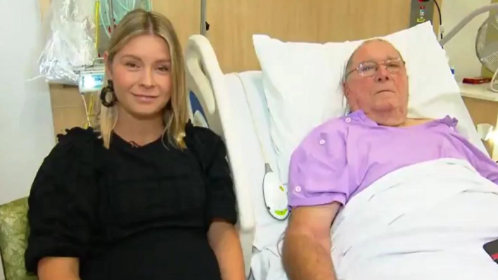 Kevin Franklin, 75, fell 25 metres down an embankment while on a group ride wondered how long he would survive until he was found. Picture: Today Show.
