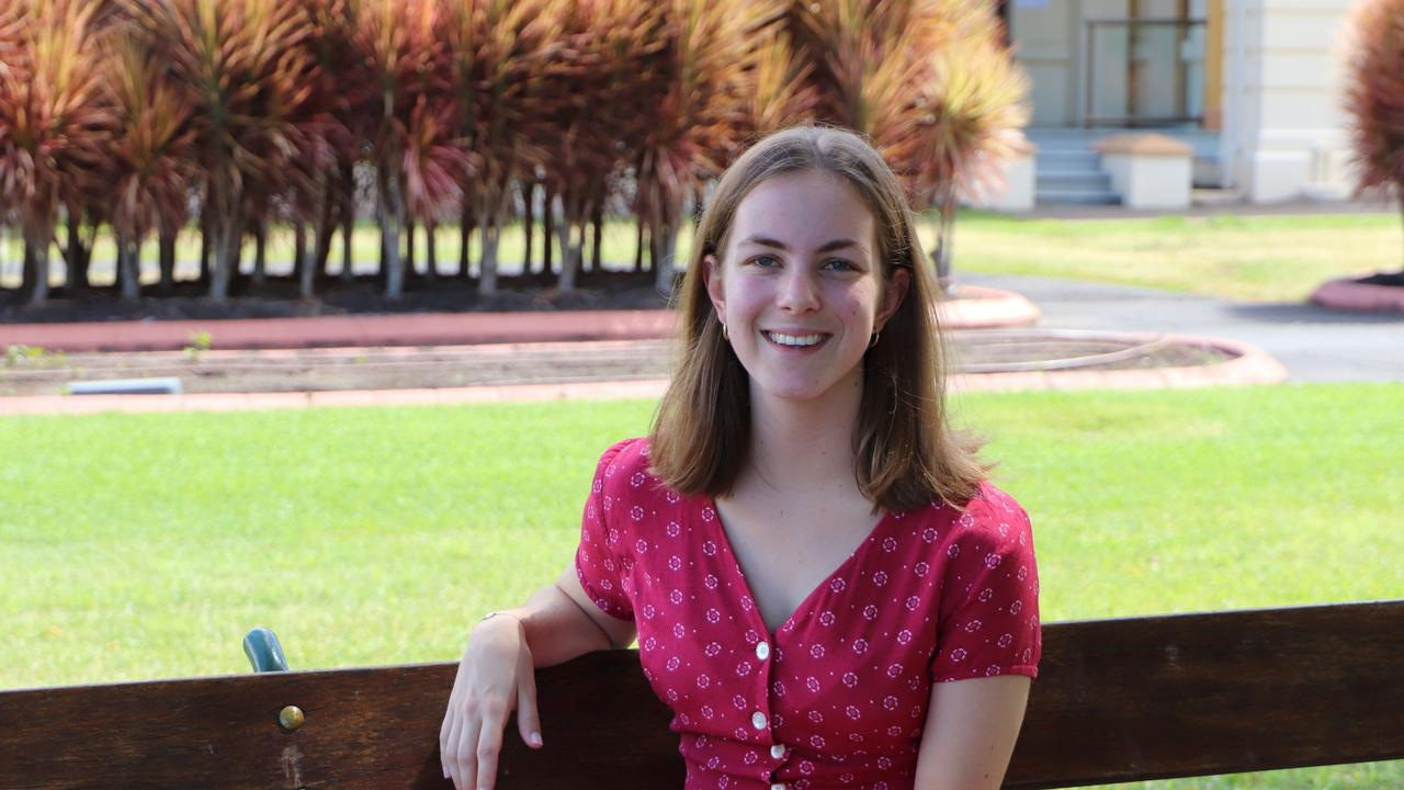 Teaching student Emma Cordie from Maryborough. Photo: Contributed/ USC
