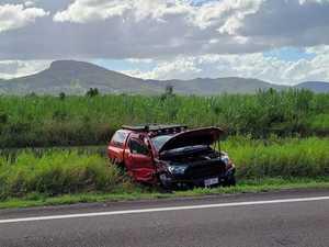 Elderly man hospitalised after head-on crash