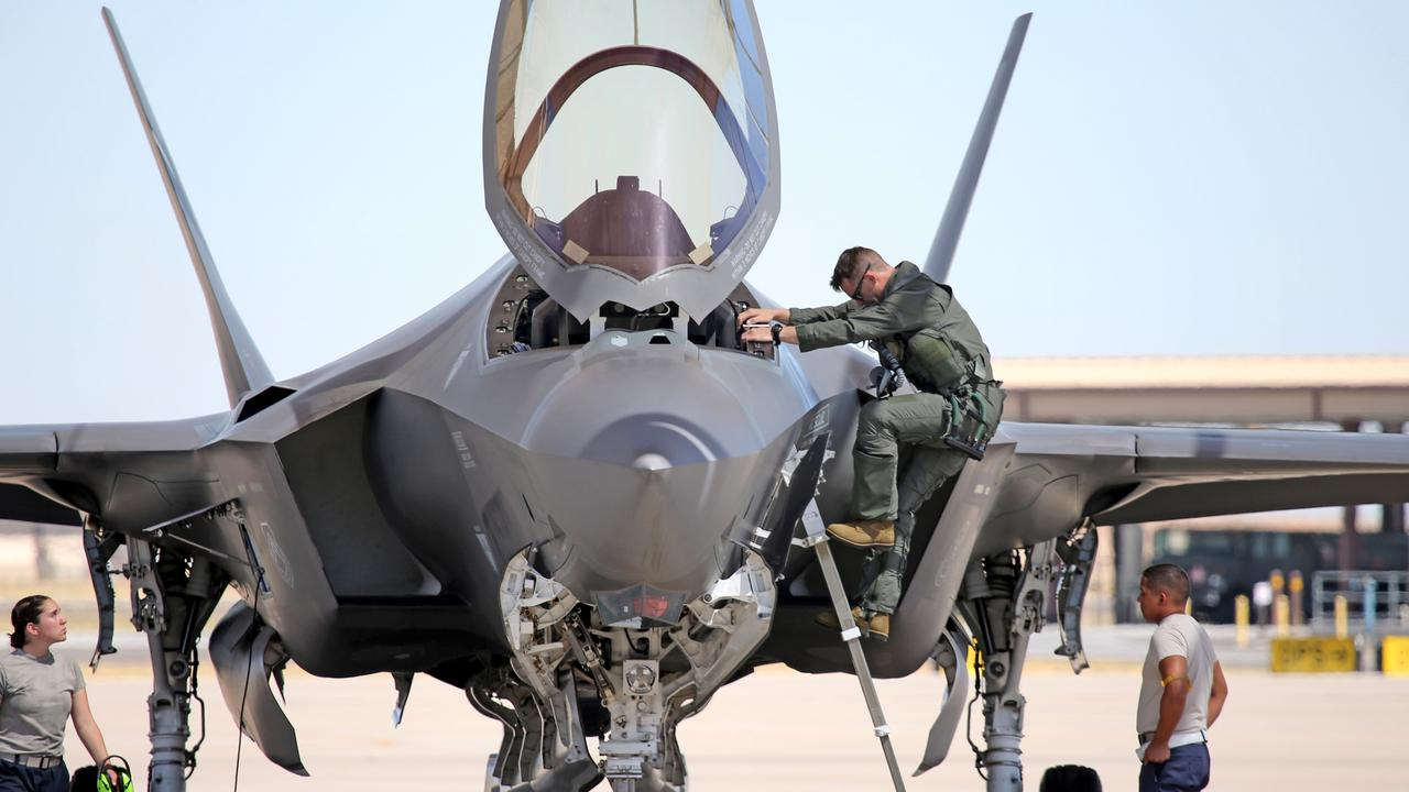 Australian pilots training in the F35 fighter jets. Picture: Nathan Edwards