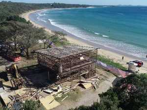 PHOTOS: Old Woolgoolga clubhouse comes down