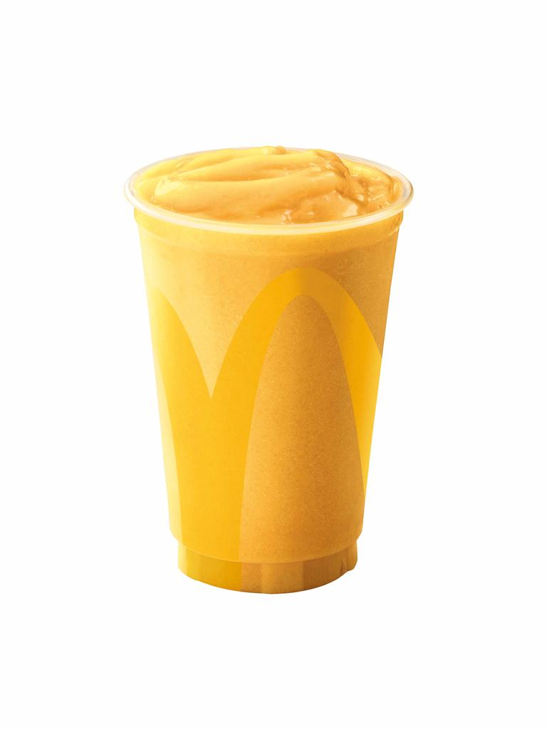 Macca's new tropical smoothie. Picture: McDonalds