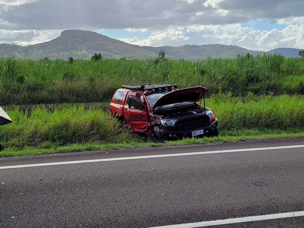 An elderly man has been taken to Sunshine Coast University Hospital after a head-on crash on Yandina Coolum Rd. Picture: Matty Holdsworth