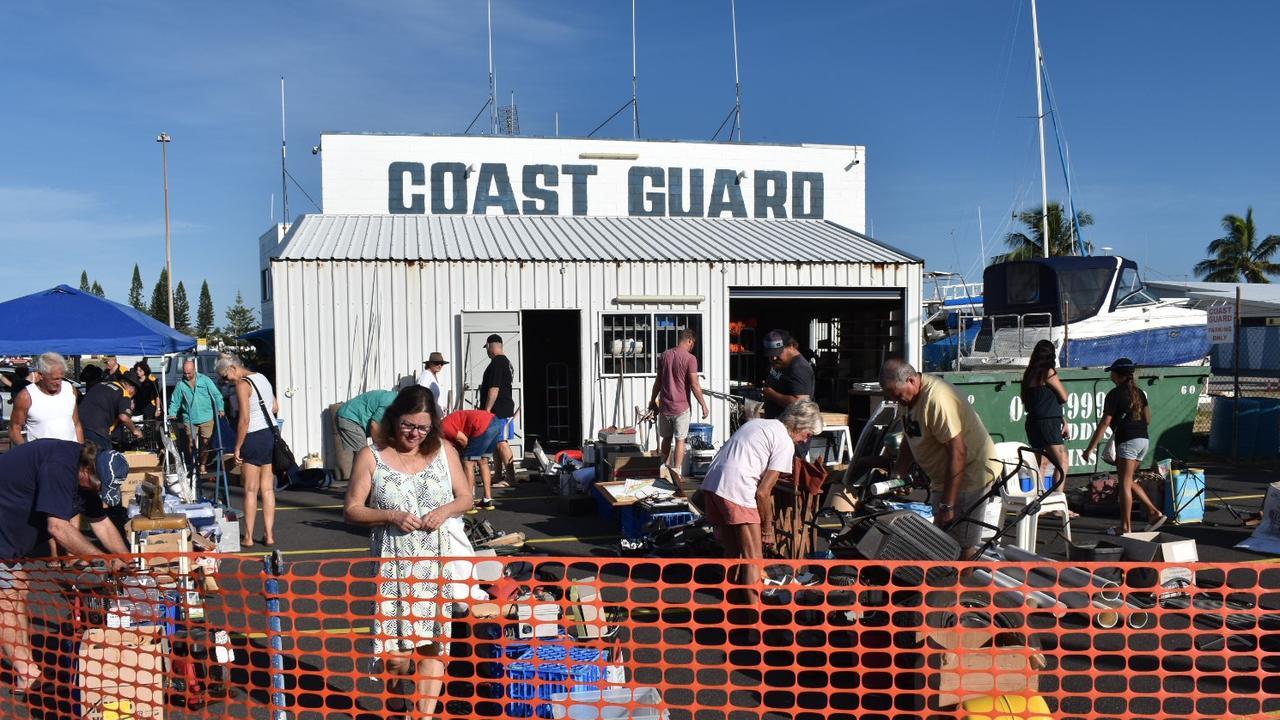 The Coast Guard garage sale.