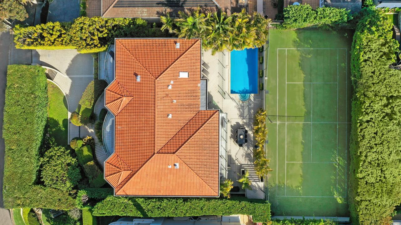 An aerial view of the 1720sqm block.