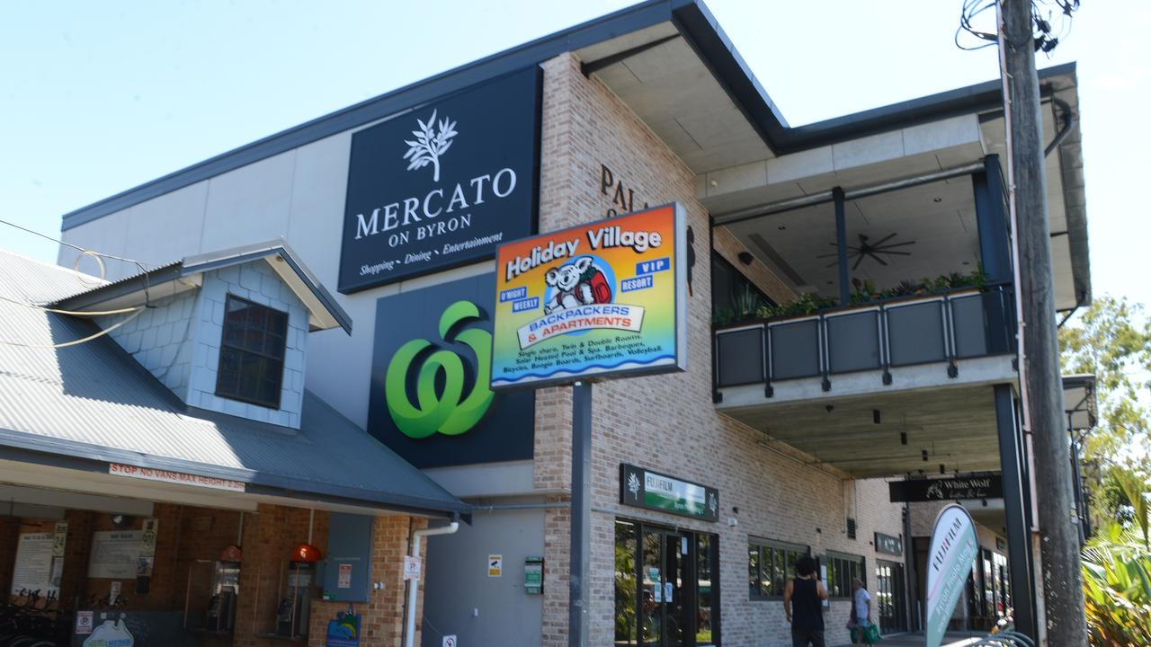 The Mercato shopping centre on Jonson St in Byron Bay.
