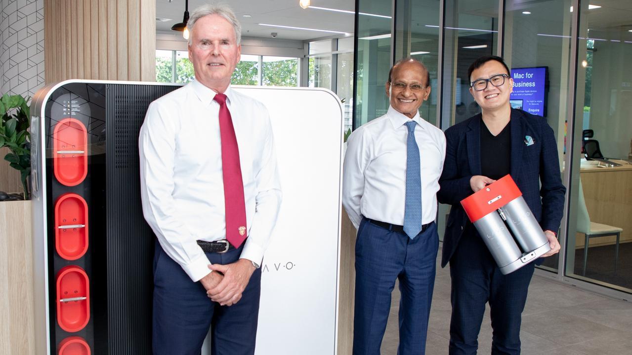 SCG deputy chairman Bob Sharpless, chairman Maha Sinnathamby and LAVO CEO Alan Yu.