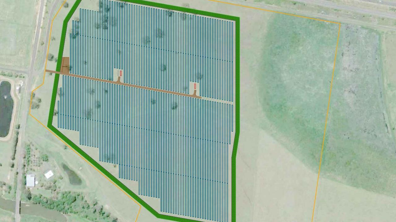 A proposed solar farm near Gatton in the Lockyer Valley.
