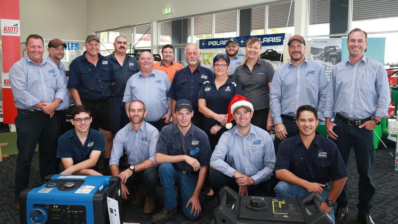 The Farm and Garden's team of sales, parts and servicing staff.