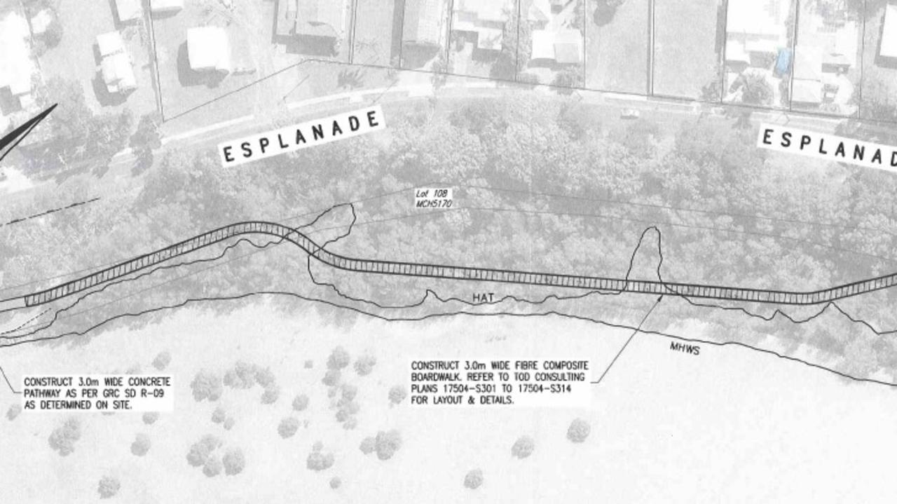 A 400m boardwalk is planned to be built on the Tin Can Bay foreshore as part of a 14km path linking the town with Cooloola Cove.