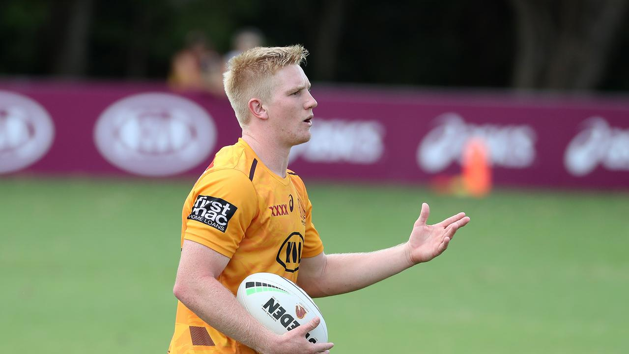 Boom Broncos halfback Tom Dearden has flown to Townsville for talks with the Cowboys. Picture: Liam Kidston.