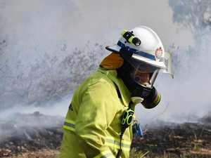 Fire crews battled two CQ grass fires Tuesday evening