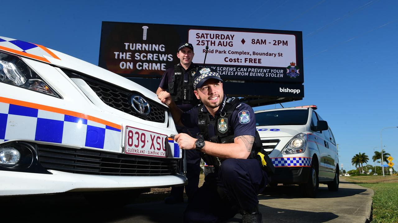 Gympie police are offering one way screws to motorists free of charge.