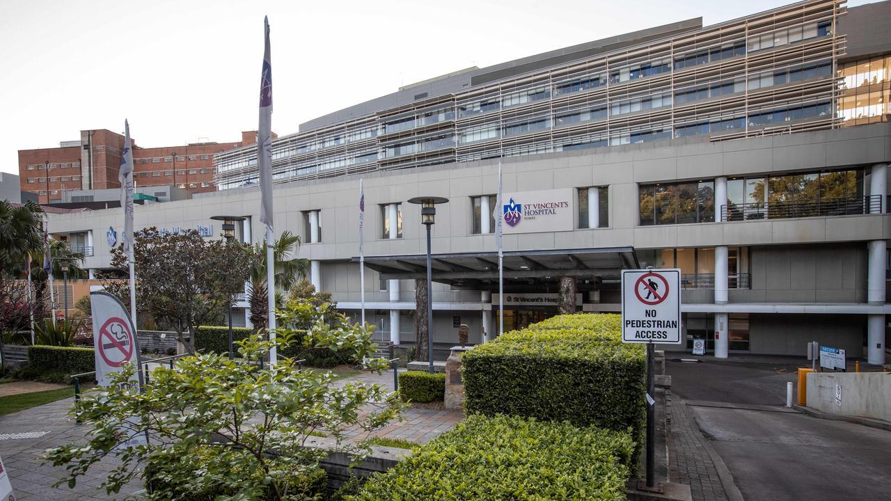 St Vincent's Hospital in Darlinghurst. Picture: Julian Andrews