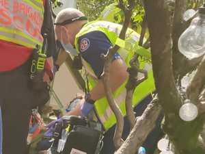 Man crushed by 250kg garbage chute