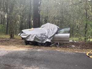 LATEST: Driver remains critical after crash