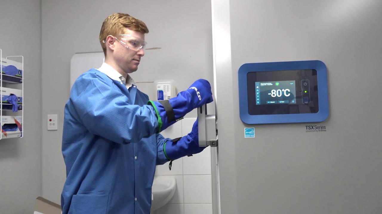 A Pfizer vaccine storage facility at Royal Prince Alfred Hospital.