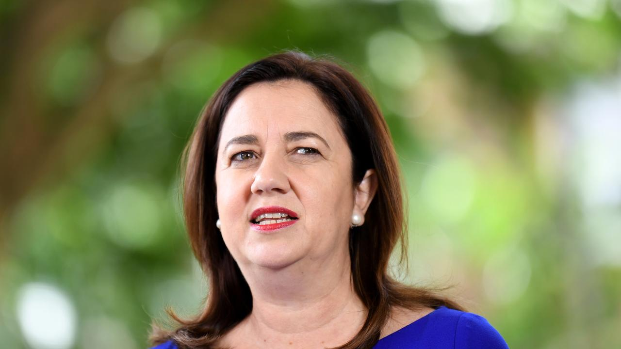 Queensland Premier Annastacia Palaszczuk speaks during a press conference at Parliament House in Brisbane. Picture: NCA NewsWire / Dan Peled