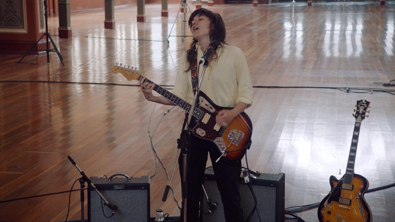 Courtney Barnett performs a global live-stream concert from Melbourne on December 17, 2020. Picture: Supplied