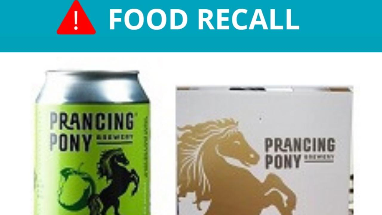 A line of cider has been recalled after the product was fermented twice. The cans might burst, and have more alcohol content than marked.