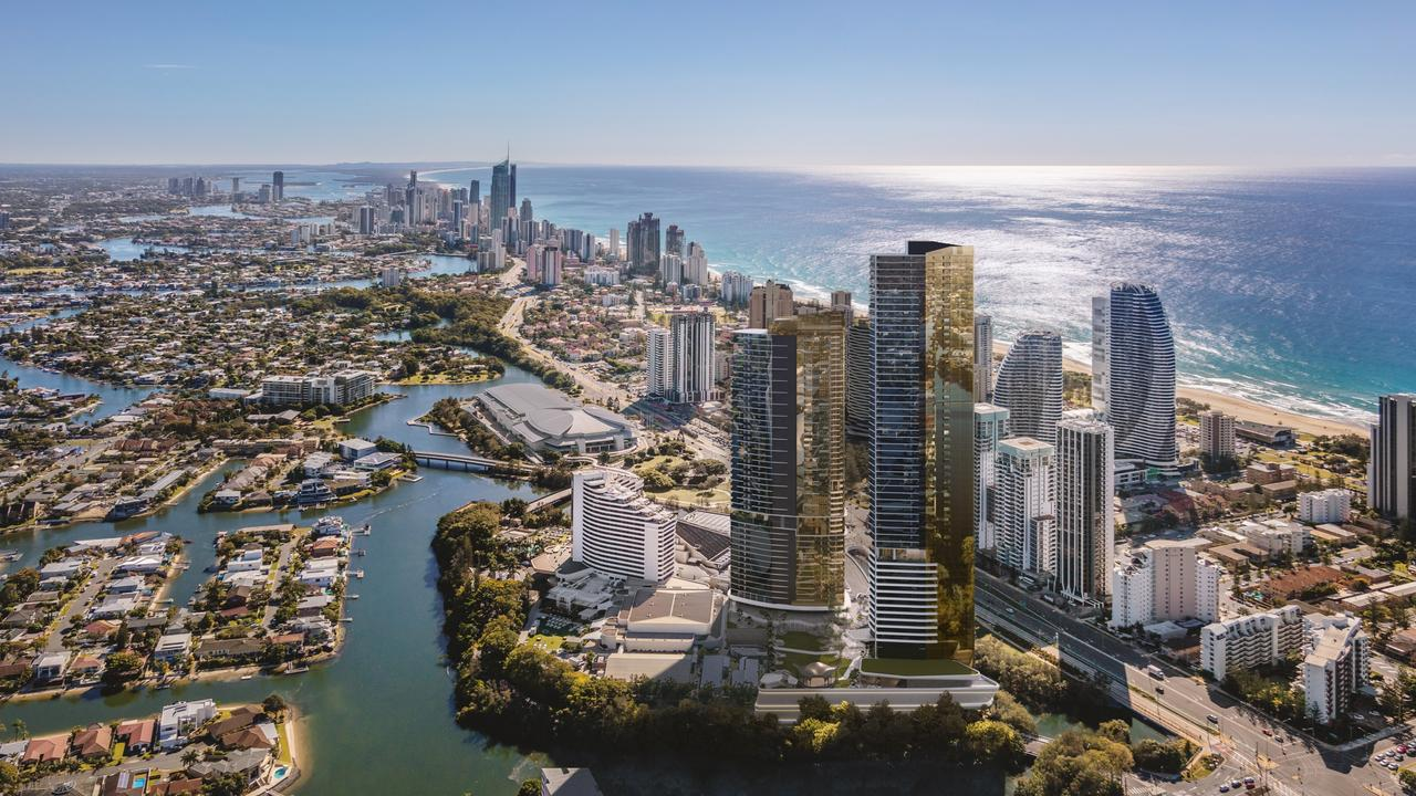 The Star Gold Coast artist impression of tower 2 and the Dorsett Hotel.