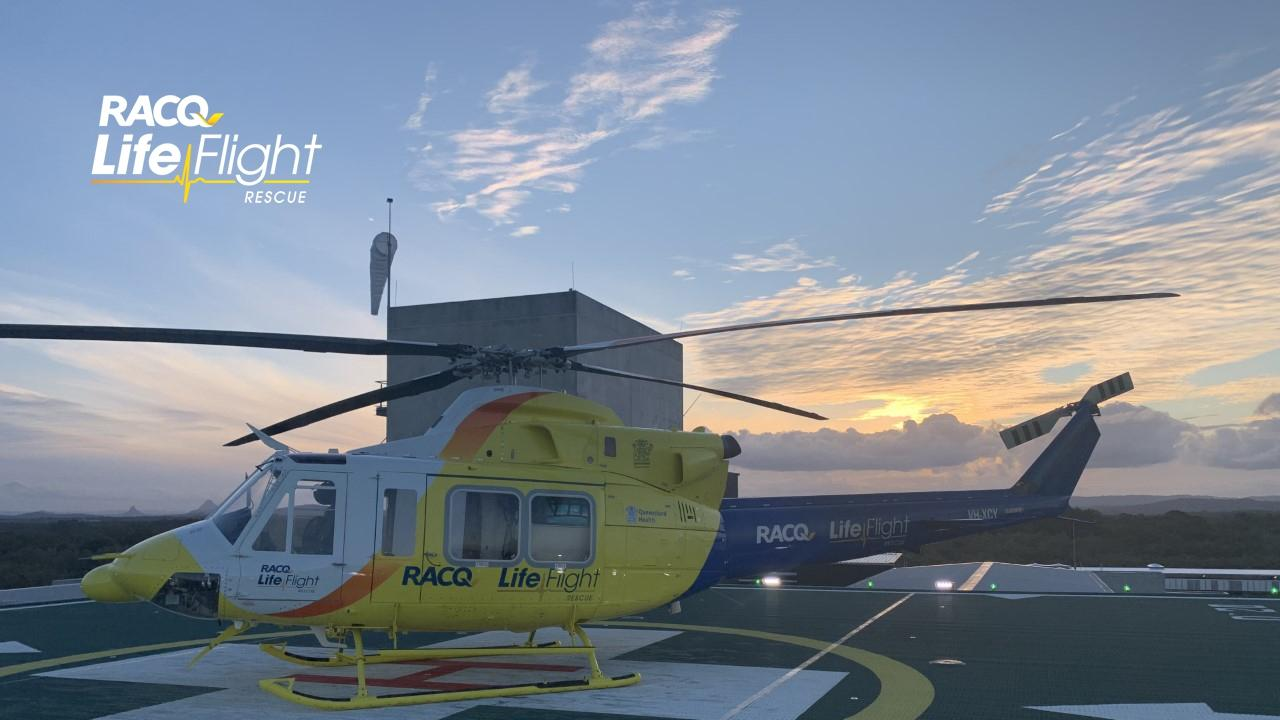 RACQ LifeFlight generic. helicopter. Rescue helicopter. airlift.