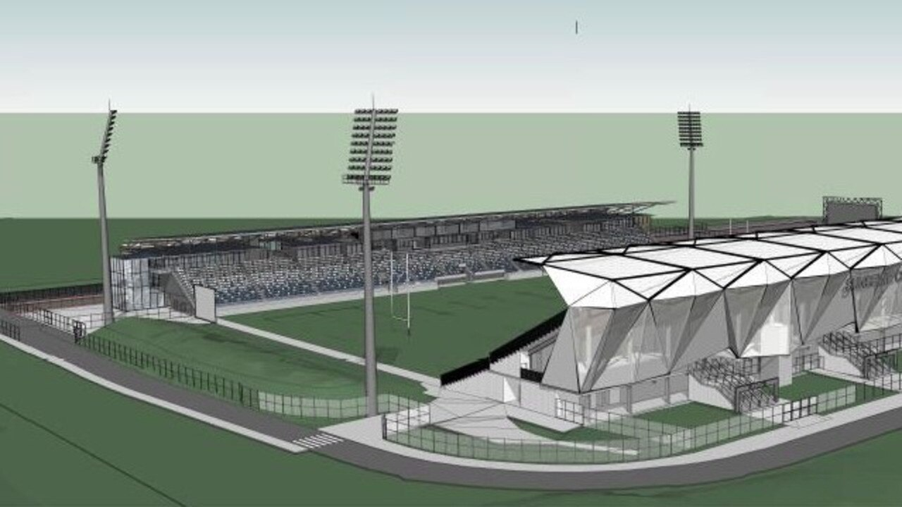 Designs for the Sunshine Coast Stadium expansion have been revealed by the town planners behind the project, Adams and Sparkes. Pictures: Aspect Architects and Project Managers