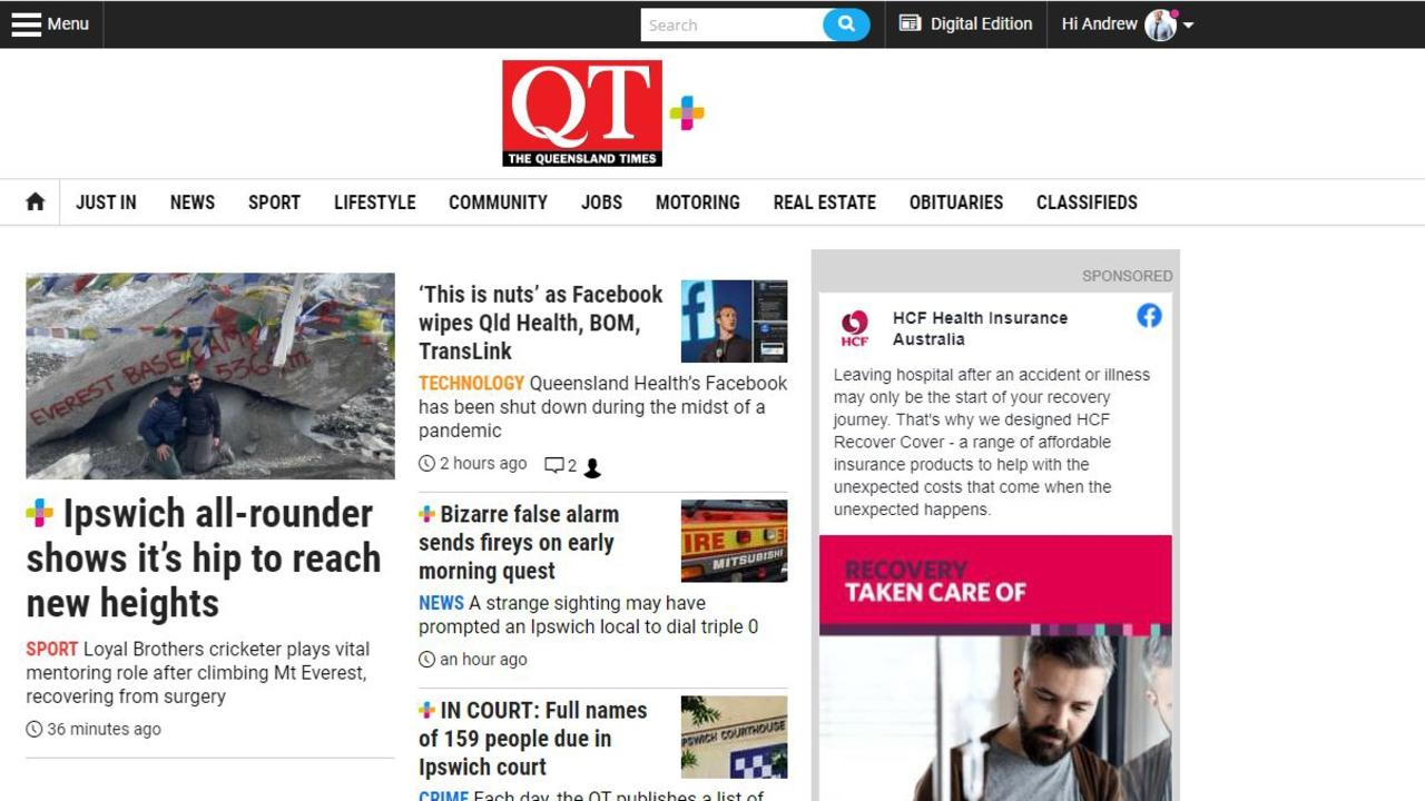 The QT homepage has easy links to most of our content along the top navigation bar, but if you are lost, try the menu icon at the top left.