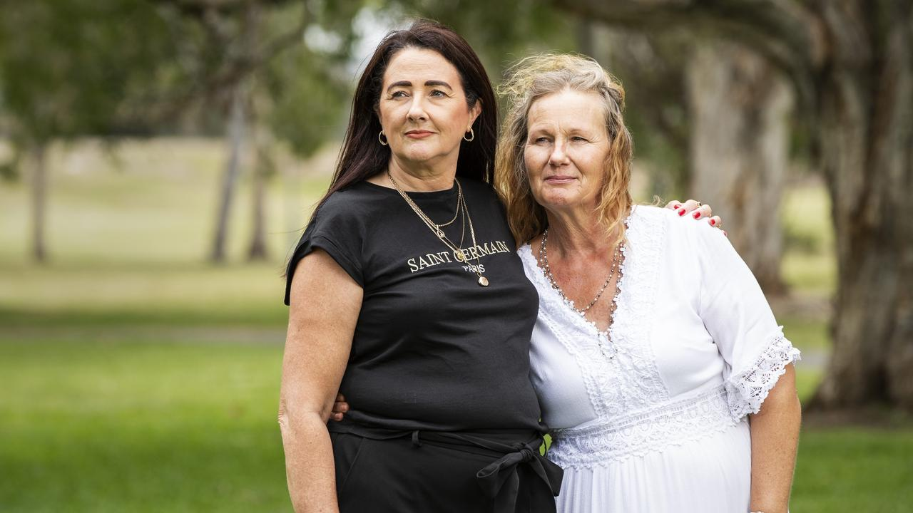 Beyond DV founder Carolyn Robinson with Angie Jordan, a victim of domestic violence. Picture: Lachie Millard