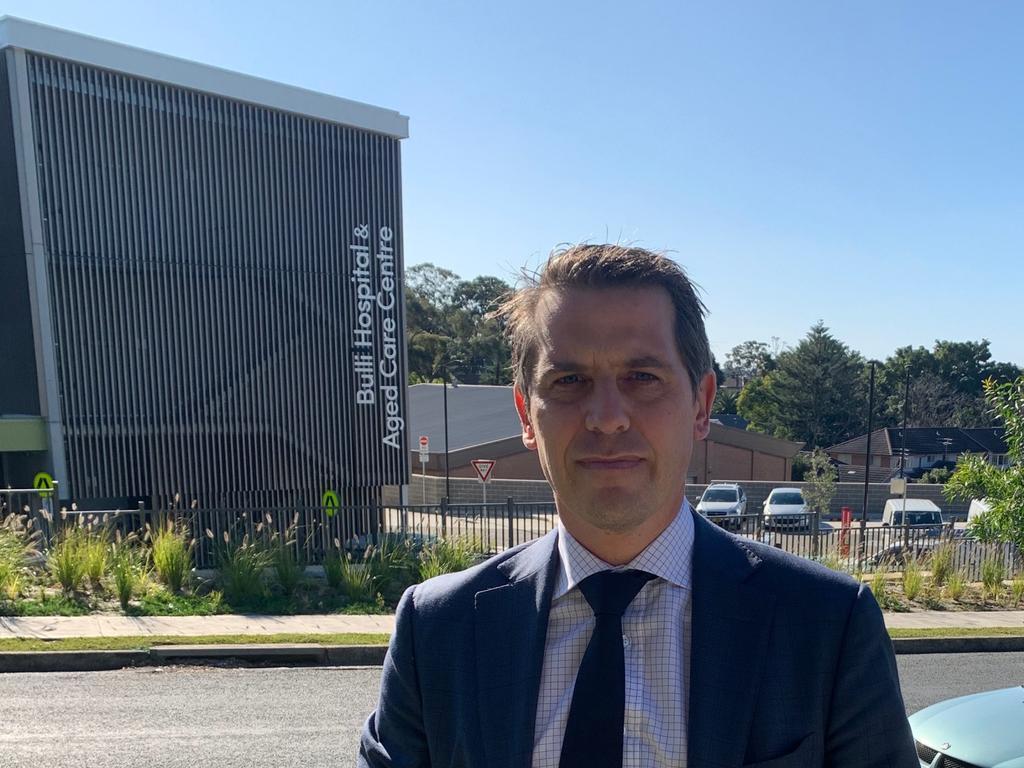Opposition health spokesman Ryan Park outside Bulli Hospital. Picture: Madeline Crittenden