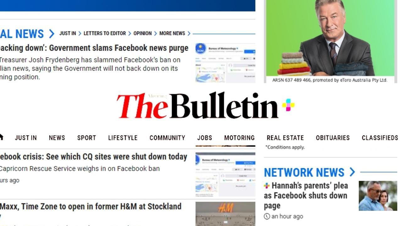 Morning Bulletin website
