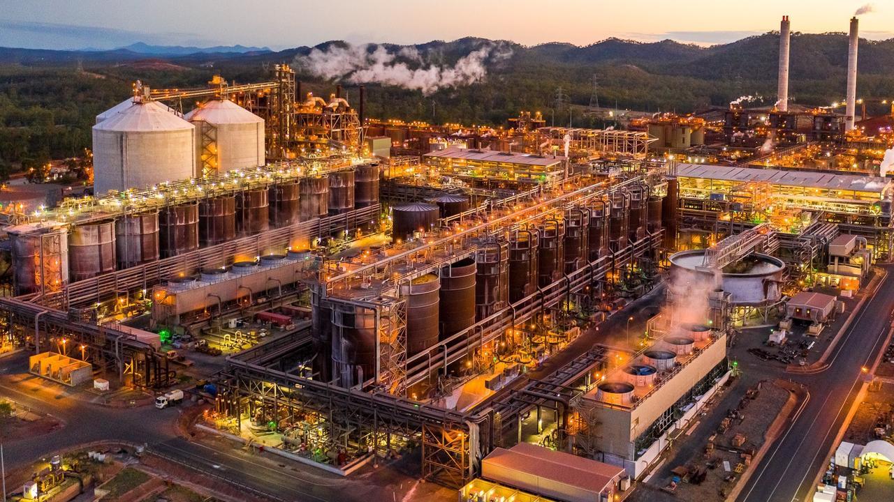 Rio Tinto's Yarwun bauxite refinery.