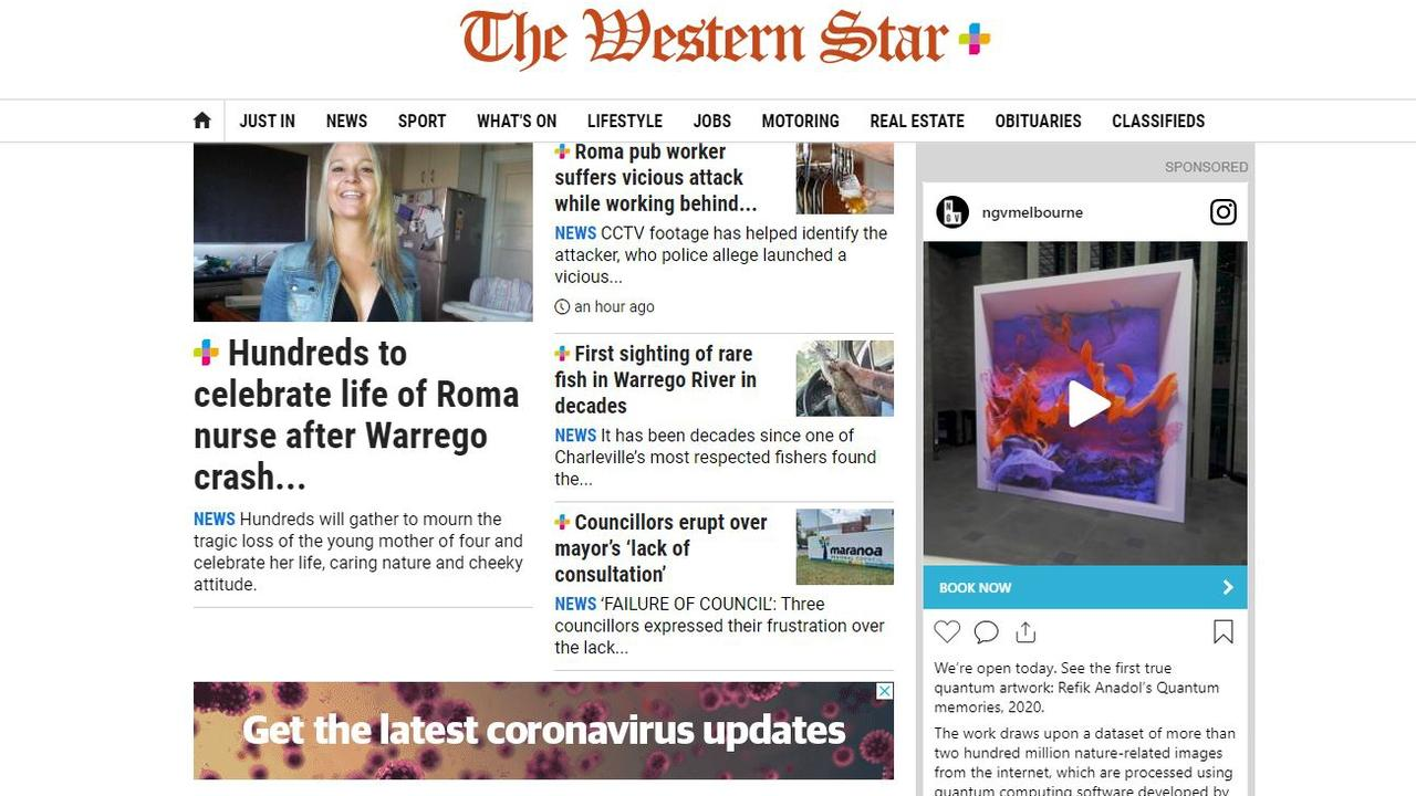 The Western Star homepage, where you can find the latest news.
