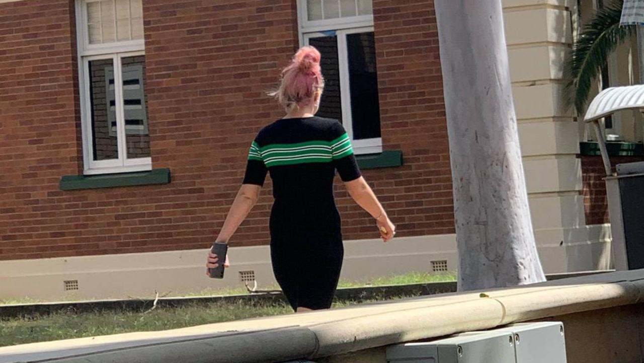 Chyna Garland leaving Dalby District Court on February 18, 2020.