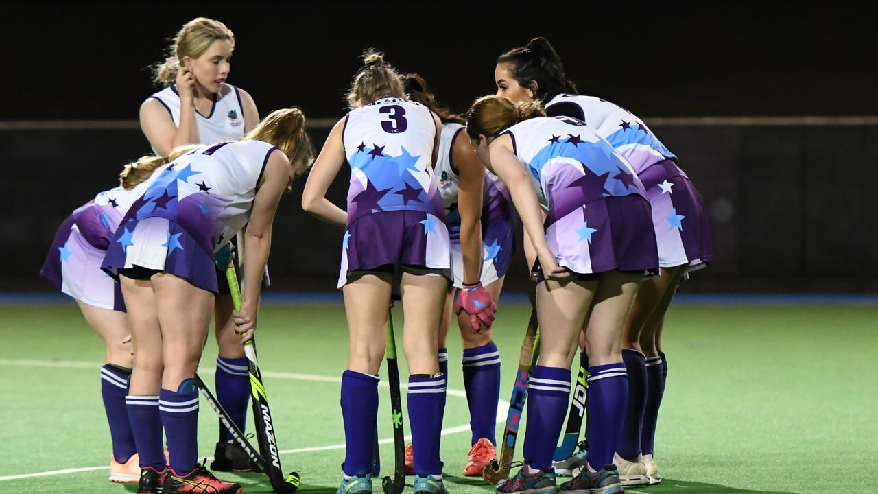Thistles A-Grade players plan their next move in last year's Ipswich competition. Picture: Darren J McCabe Photography