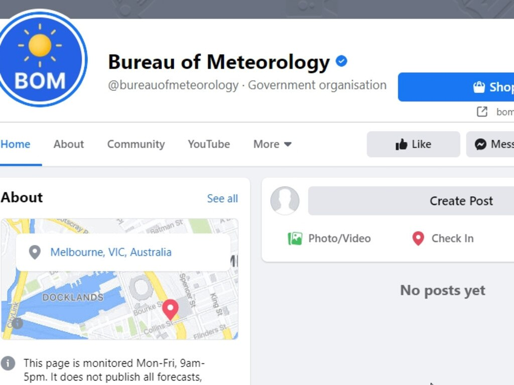 Changes to Facebook is affecting BOM, Queensland Health etc