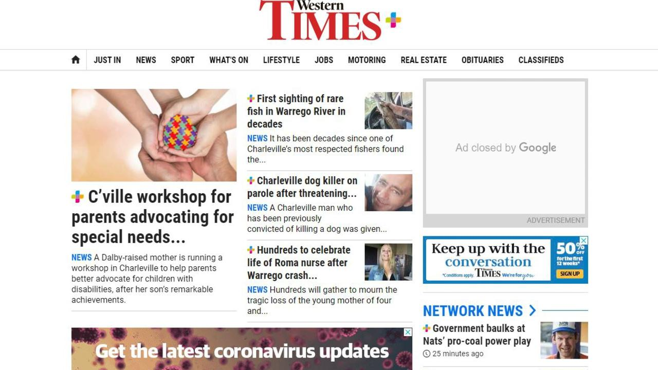 The Western Times homepage, where you can find the latest news.