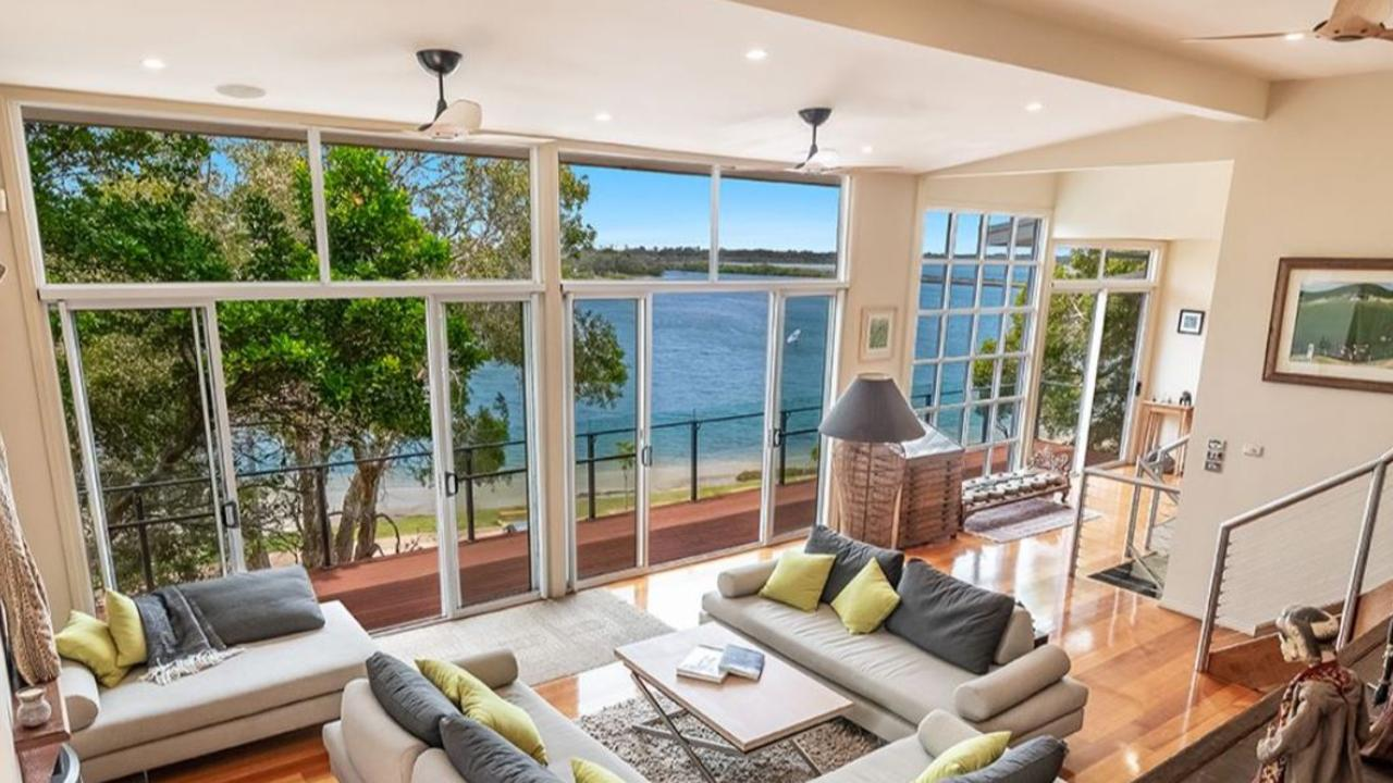 The home in Compton Drive has been designed to take full advantage of the water views.