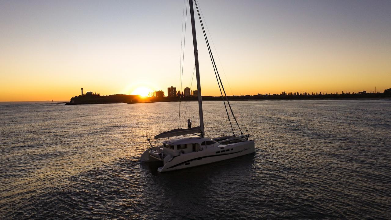 Eric Cook's stunning Mooloolaba-based catamaran Stardust is on the market.