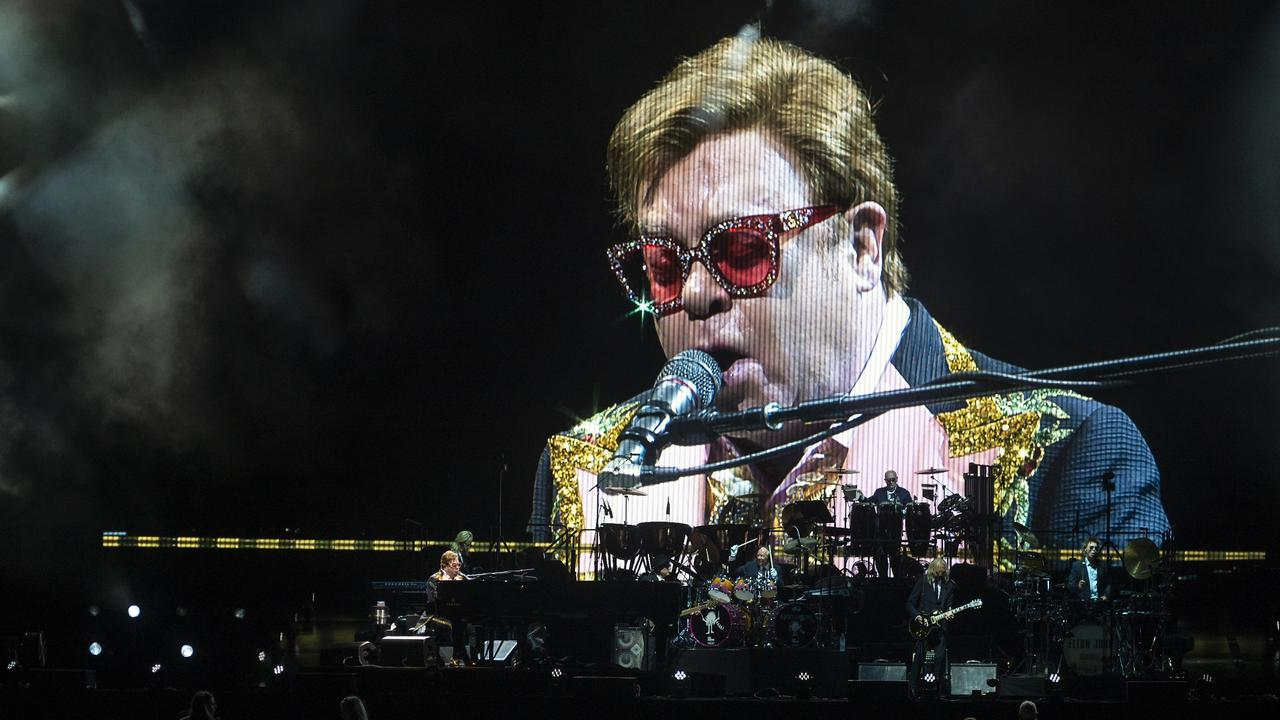 Elton John nailed his appearance in the UK's COVID-19 vaccine promotional campaign. Picture: Matt Taylor.
